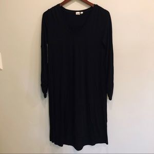 Black Gap Midi Swing Dress